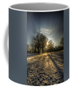 Sunset Snow Trees Coffee Mug