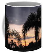 Sunset Through The Palms Coffee Mug