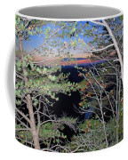 Sunset Thru The Pines Coffee Mug