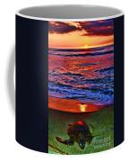 Sunset Turtle By Diana Sainz Coffee Mug