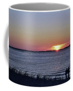 Sunset Walk Along The Beach Coffee Mug