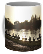 Sunset With Geese On The Thames Coffee Mug