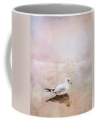 Sunset With Young Seagull Coffee Mug