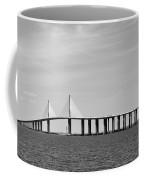 Sunshine Skyway Bridge Bw II Tampa Bay Florida Usa Coffee Mug