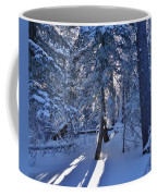 Sunshine Through Winter Trees Coffee Mug