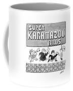 Super Karamazov Bros. -- A Parody Of Mario Coffee Mug by Tom Toro