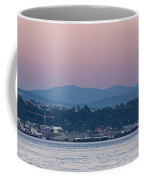 Super Moon And Sailing Panorama Coffee Mug