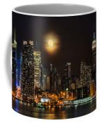 Super Moon Over Nyc Coffee Mug by Susan Candelario