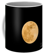 Super Moon With Airliner Silhouette Coffee Mug