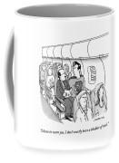 Superman Sits In A Plane Next To A Businessman Coffee Mug