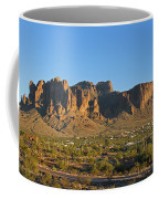 Superstition Mountain In The Evening Sun Coffee Mug