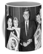 Supporters Greet Kennedy Coffee Mug