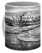 Surf At Driftwood Beach Coffee Mug by Debra and Dave Vanderlaan