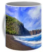 Surf At Pololu Valley Big Island Coffee Mug