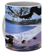 Surf On The Beach, Mauna Kea, Hawaii Coffee Mug