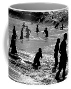 Surf Swimmers Coffee Mug by Sean Davey