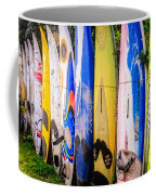 Surfboard Fence Maui Hawaii Coffee Mug by Edward Fielding