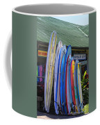 Surfboards At Hanalei Surf Coffee Mug