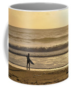 Surfer At Sunset  Coffee Mug