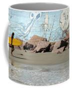Surfer Beach 1034b Coffee Mug
