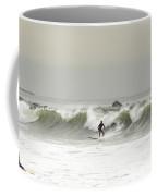 Surfer Beach 91st St Rockaway Queens Coffee Mug