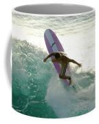 Surfer Cutting Back Coffee Mug