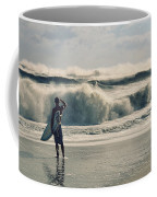 Surfer Watch Coffee Mug by Laura Fasulo