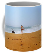 Surfers At Newport Beach Coffee Mug