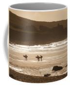Surfers On Beach 02 Coffee Mug by Pixel Chimp