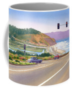 Surfers On Pch At Torrey Pines Coffee Mug by Mary Helmreich
