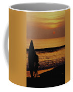 Surfing At Sunset Coffee Mug by Anonymous