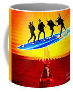 Surfing For Peace Coffee Mug