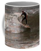 Surfing The Bricks Coffee Mug