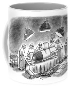 Surgeons Working On A Bomb In Operating Room Coffee Mug