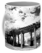 Surreal Augusta Georgia Black And White Infrared  - Riverwalk River Front Park Garden   Coffee Mug