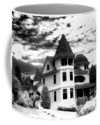 Surreal Black White Mackinac Island Michigan Infrared Victorian Home Coffee Mug