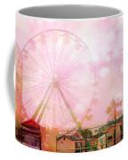 Surreal Dreamy Pink Myrtle Beach Ferris Wheel Coffee Mug