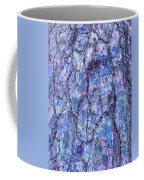 Surreal Patterned Bark In Blue Coffee Mug
