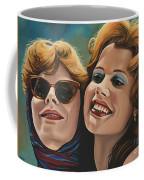 Susan Sarandon And Geena Davies Alias Thelma And Louise Coffee Mug by Paul Meijering