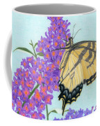 Swallowtail Butterfly And Butterfly Bush Coffee Mug