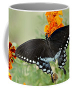Swallowtail Butterfly With Marigolds Coffee Mug