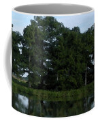 Swamp Cypress Trees Digital Oil Painting Coffee Mug
