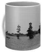 Swamp Tall Cypress Trees Black And White Coffee Mug