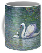 Swan And One Baby Coffee Mug