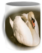 Swan Cameo In Sepia Coffee Mug