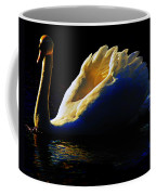 Swan In Golden Light Coffee Mug