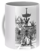 Swan Statue - Black And White With Vignette Coffee Mug