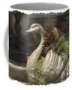 Swan With Beautiful Flowers Coffee Mug