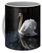 Swan With Reflection  Coffee Mug