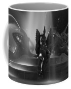 Swann Fountain At Night In Black And White Coffee Mug